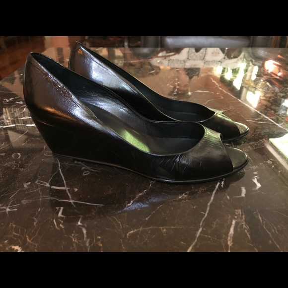 a01d659295c Pierre Hardy black peep toe wedges, size 41